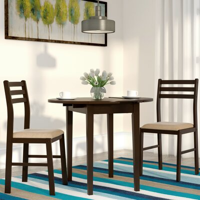 Lynbrook 3 Piece Counter Height Dining Set Finish: Cappuccino