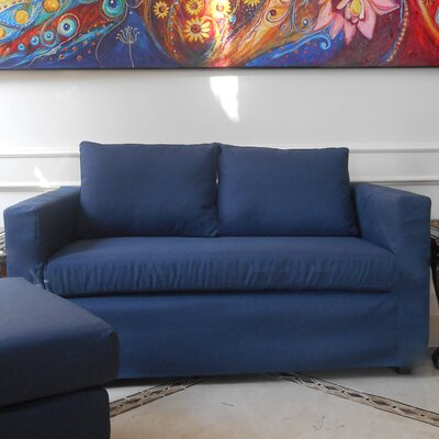 Luella Reversible Chiase Sectional Upholstery: Navy