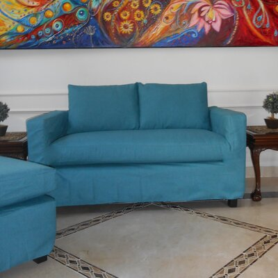 Luella Reversible Chiase Sectional Upholstery: Blue