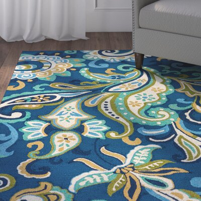 Breann Blue Indoor/Outdoor Area Rug Rug Size: 76 x 96