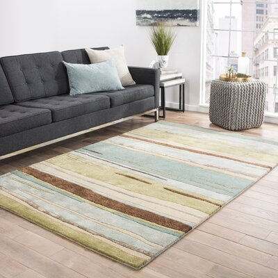 Williamsfield Hand-Tufted Green/Blue Area Rug Rug Size: Rectangle 5 x 8