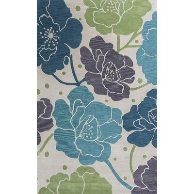 Bradshaw Ivory/Blue Bella Area Rug Rug Size: Rectangle 8 x 10