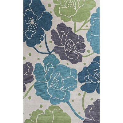 Bradshaw Ivory/Blue Bella Area Rug Rug Size: 8 x 10