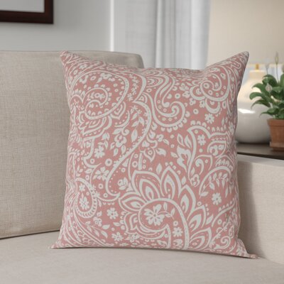 Southwood 100% Cotton Botanical Pillow Cover Size: 18 H x 18 W x 0.25 D, Color: PinkNeutral
