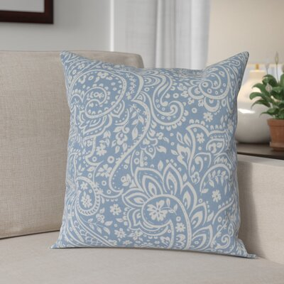 Southwood 100% Cotton Botanical Pillow Cover Size: 18 H x 18 W x 0.25 D, Color: BlueNeutral