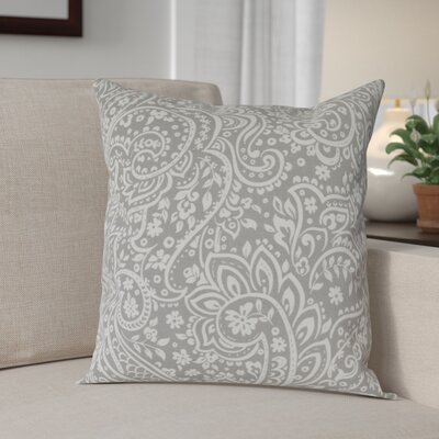 Southwood 100% Cotton Botanical Pillow Cover Size: 18 H x 18 W x 0.25 D, Color: GrayNeutral