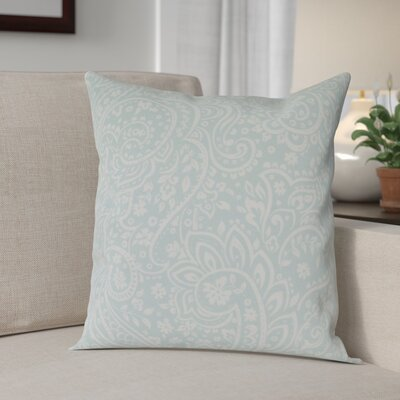 Southwood 100% Cotton Botanical Pillow Cover Size: 18 H x 18 W x 0.25 D, Color: MintCream