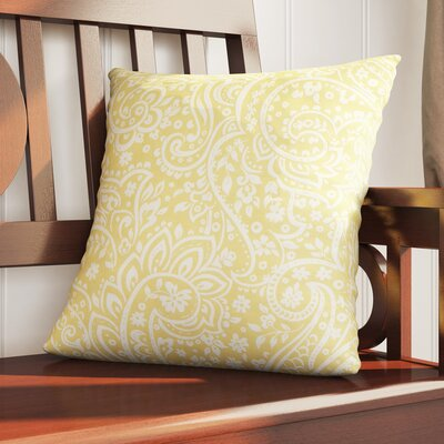 Southwood 100% Cotton Botanical Pillow Cover Size: 18 H x 18 W x 0.25 D, Color: YellowNeutral