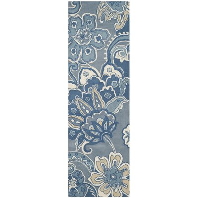 Armstrong Blue Rug Rug Size: Runner 26 x 8