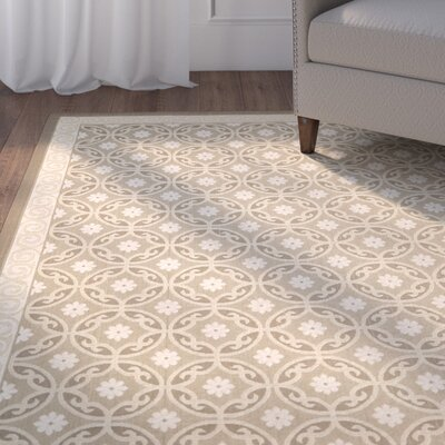 Short Beige / Beige Indoor/Outdoor Rug Rug Size: 67 x 96