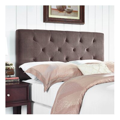 Brennan Upholstered Panel Headboard Size: Full/Queen, Upholstery: Chocolate
