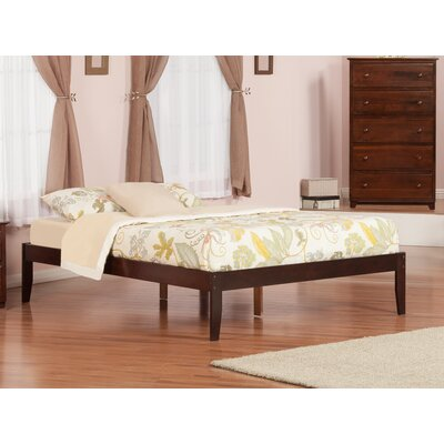 Mackenzie Platform Bed Size: Queen, Color: Antique Walnut