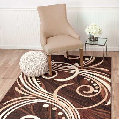 Frieda Brown Area Rug Rug Size: Rectangle 38 x 5