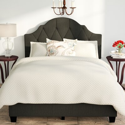 Anselmo Queen Upholstered Panel Bed Finish: Steel