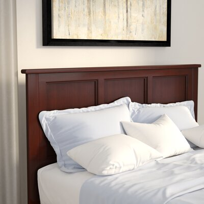 Marjorie Panel Headboard Finish: Antique Walnut, Size: King