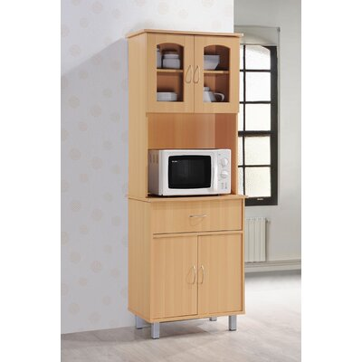 Reynolds Kitchen Island China Cabinet Color: Beech