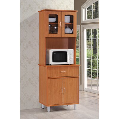 Reynolds Kitchen Island China Cabinet Finish: Cherry