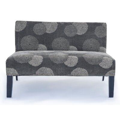 Cullen Sunflower Settee Upholstery: Grey