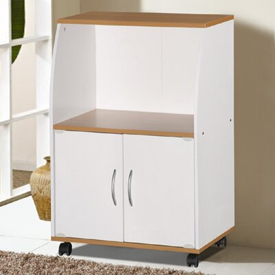 Russellton Microwave Cart Base Finish: White