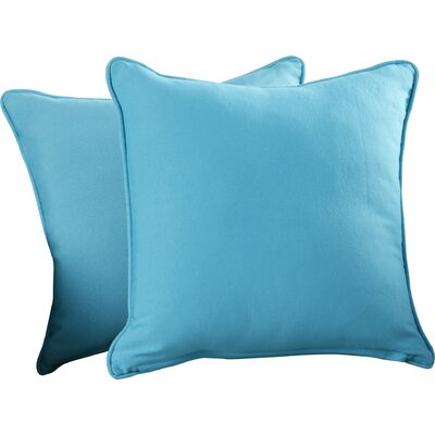 Weymouth Indoor/Outdoor Throw Pillow Color: Aqua Blue