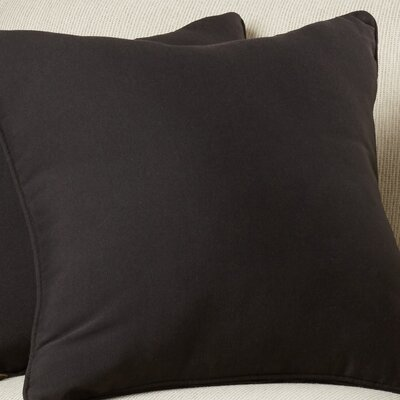 Weymouth Outdoor Throw Pillow Color: Black