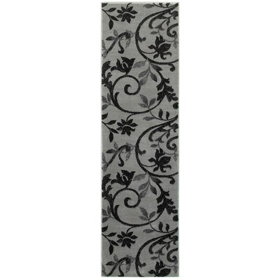 Myra Gray/Black Area Rug Rug Size: Runner 21 x 75