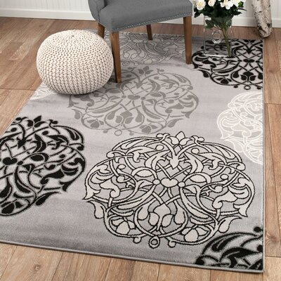 Frieda Gray Area Rug Rug Size: Rectangle 2 x 3