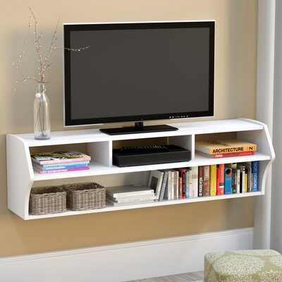 Reuben 58 TV Stand Color: White Laminate