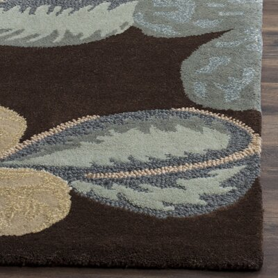 Mccullough Brown Area Rug Rug Size: 6 x 9