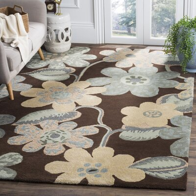 Mccullough Brown Area Rug Rug Size: Rectangle 6 x 9