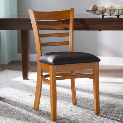 Lyman Chase Ladder Back Side Chair I Finish: Cherry