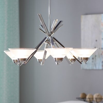 Sharpe 6-Light Shaded Chandelier