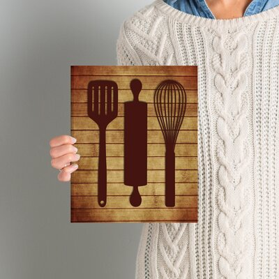 'Kitchen Utensils' Graphic Art on Wrapped Canvas ANDO5605 33616885