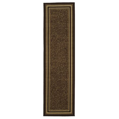 Galesburg Chocolate Area Rug Rug Size: Runner 18 x 411