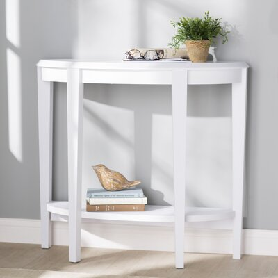 Blakeway Half Moon Console Table Finish: White
