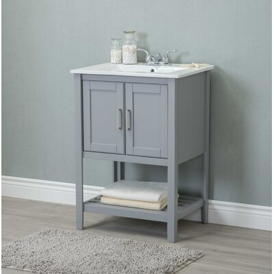 Reynal 24 Single Bathroom Vanity Set Base Finish: Gray