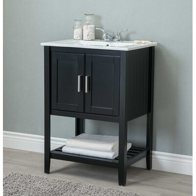 Reynal 24 Single Bathroom Vanity Set Base Finish: Dark Espresso