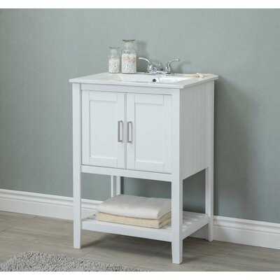 Reynal 24 Single Bathroom Vanity Set Base Finish: White