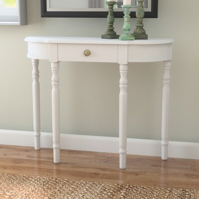 Kauffman Console Table Finish: White