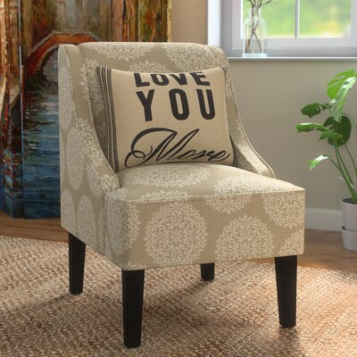Adams Swoop Slipper Chair Upholstery: Pearl