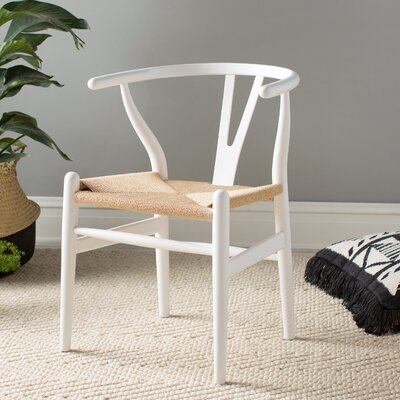 Ashford Solid Wood Dining Chair Color: White