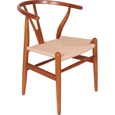 Norvin Solid Wood Dining Chair Finish: Walnut
