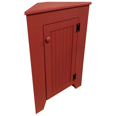 Besser Corner Display Stand Color: Old Red