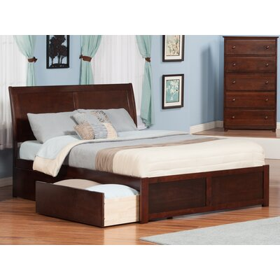 Winstead Traditional Storage Platform Bed Size: King, Color: Antique Walnut