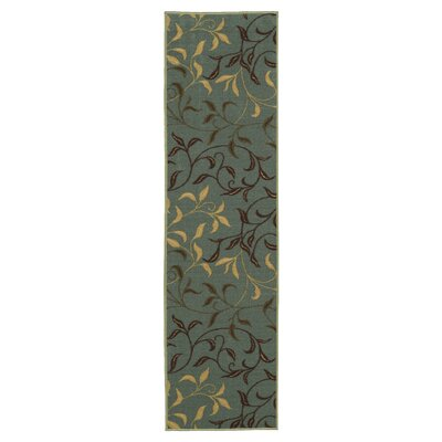 Galesburg Sage Green Area Rug Rug Size: Runner 110 x 7