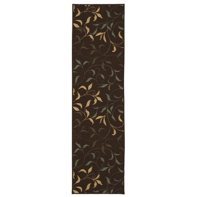 Galesburg Chocolate/Brown Area Rug Rug Size: Runner 27 x 10