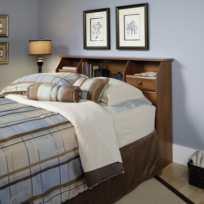Revere Bookcase Headboard Size: Full/Queen, Color: Oiled Oak