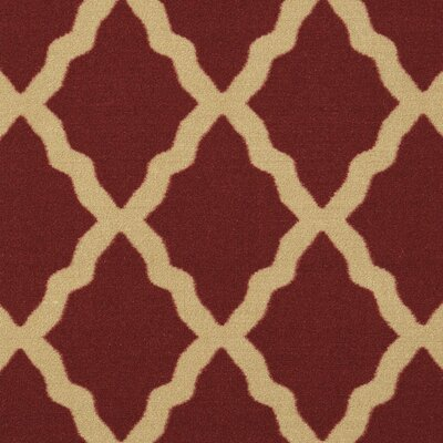 Galesburg Dark Red Area Rug Rug Size: Rectangle 5 x 66
