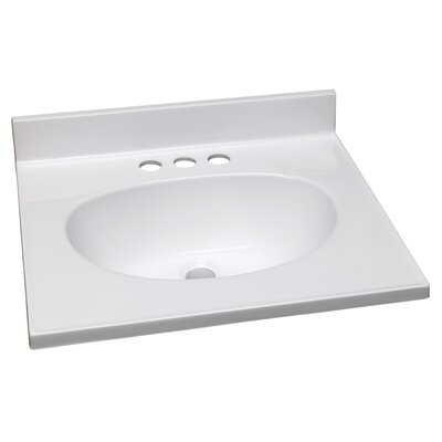 Cates 19  Single Bathroom Vanity Top Top Finish: Solid White