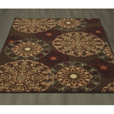 Galesburg Chocolate Area Rug Rug Size: Rectangle 5 X 66